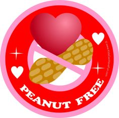 printable peanut free labels.....What a great idea!!!