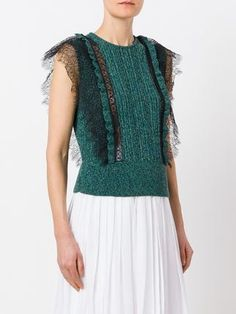 Explore striking designs in the knitted tops edit at Farfetch now. Discover stylish knitted tops for women from a range of luxury labels. Lace Sweater, Sweater Design, Everyday Outfits, Knitwear, Sweaters For Women, Clothes, Brunello Cucinelli, Tops, Knitting
