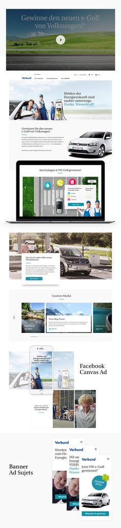 """Konzept, Design und Umsetzung der digitalen """"Helden der Energiezukunft"""" Kampagne inkl. interaktiver Landingpage, Online-Game und Facebook Ads. Facebook, Design, Concept, Heroes, Design Comics"""
