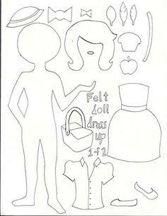 !!!!♥ Feltro-Aholic ♥ Moldes e pap em feltro e feltro estampado!: Mural de bonecas em feltro - Moldes e Tutorial