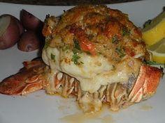 Crab Stuffed Lobster Tail