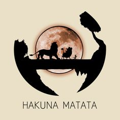 Check out this awesome 'Hakuna+Matata' design on Emoji Wallpaper, Wallpaper Iphone Disney, Cute Disney Wallpaper, Cute Cartoon Wallpapers, Iphone Wallpapers, Disney Kunst, Disney Art, Hakuna Matata Quotes, Lion King Hakuna Matata