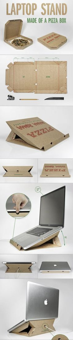 Laptop stand made out of a pizza box diy crafts do it yourself diy projects crafty pizza box laptop stand