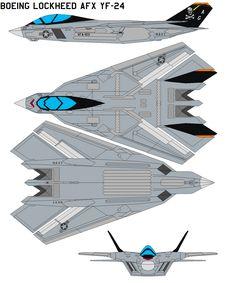 Boeing Lockheed AFX YF-24 by bagera3005.deviantart.com on @DeviantArt