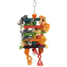 Grab a huge saving on our Stacks & Spools Toy to celebrate today. It has layers of soft wood your Parrot can chew on to keep their beak healthy and trim, rope to use for preening and can easily be hung from the metal pear link provided. Cockatoo Toys, Unicorn Pinata, Parrot Perch, Fruit Holder, Parrot Toys, Sisal Rope, Conure, Bird Toys, Wood Pieces