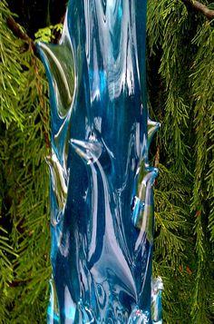 Teal Glass Icicle by GlassGardensNW on Etsy, $89.95