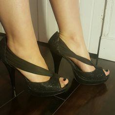 Sparkly pumps Worn only a few times.  Super comfortable Madden Girl Shoes Heels