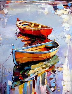 What is Your Painting Style? How do you find your own painting style? What is your painting style? Boat Painting, Painting & Drawing, Knife Painting, Painting Styles, Painting Flowers, Painting Lessons, Boat Art, Fine Art, Watercolor Paintings