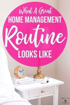 What does your home management routine look like? Do you have a set routine? Let me share how to tackle your home once and for all! Declutter Your Home, Organize Your Life, Organizing Your Home, Organizing Tips, Home Organization Hacks, Planner Organization, College Organization, To Do Planner, College Planner