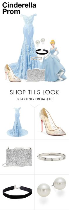 """""""Cinderella Prom Disneybound"""" by mxrxkx ❤ liked on Polyvore featuring Christian Louboutin, Aspinal of London, Cartier, Miss Selfridge, AK Anne Klein, Prom, disney, cinderella, disneybound and disneycharacter"""