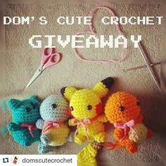 #Repost @domscutecrochet with @repostapp  RULES AND INFO DOWN BELOW Hi guys it's been a while since I've been so free from school and I finally have the chance to check my Insta. I reached another 1k followers so for that I decided to host a giveaway  It's very easy to enter and there are 3 prizes you can choose 1 from! (I will pay for the shipping fee.) 1. You can win a set of your own 100% handmade crocheted Bulbasaur Squirtle Charmander AND Pikachu! These will look exactly like the ones…