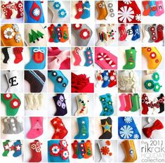 modern felt stockings by Rikrak...super cute and would be an easy DIY