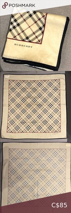 ❣️(RARE) Burberry Japanese Handkerchief❣️ Bought it from another seller who got this handkerchief from Japan. NOT USED. Just sitting around. Got it purely for aesthetic and an add on to my wallet. No other handkerchief like this! Can be used as a scarf, wrap, and any other creative way. Unfortunately I don't have an authenticity card. But sticker translates it to that it's by Burberry. Open to offers. Burberry Accessories Burberry Glasses, Burberry Watch, Burberry Women, Leather Corset Belt, Disco Dust, Silk Handkerchief, My Wallet, Iphone 6 Cases