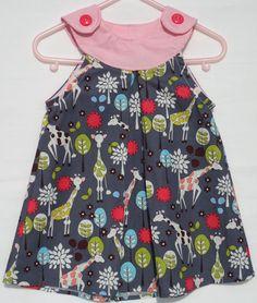 Giraffe Party Baby Girl Dress  -  Toddler Dress - Baby Dress 12M - 3T. $22,00, via Etsy.