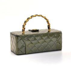 Neceser de charol de Vintage Chanel, verde