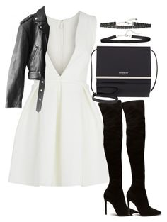 """""""Untitled #3632"""" by theeuropeancloset on Polyvore featuring AQ/AQ, Jean-Paul Gaultier, Givenchy and Chan Luu"""