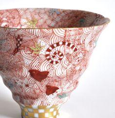 戸出 雅彦 Masahiko Toide | WORKS Japanese Vase, Japanese Porcelain, Japanese Ceramics, Japanese Pottery, Ceramic Tableware, Ceramic Bowls, Ceramic Pottery, Decoration, Glass Art