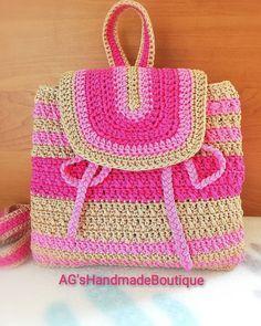 # Handmade # Crochet # Pink Bag For More Details and Ordering … - Prom Makeup Prom Makeup, Straw Bag, Rose Gold, Shoulder Bag, Backpacks, Crochet, Pink, Handmade, Bags