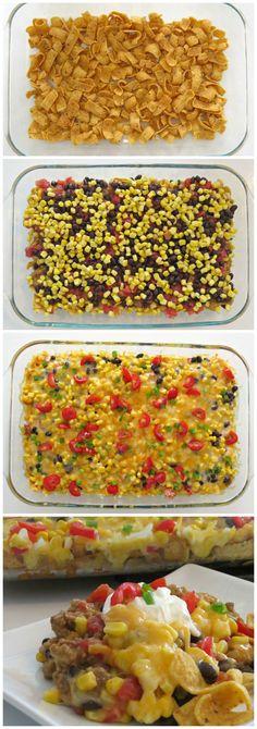 Delicious Tex Mex Casserole Recipe that's quick & easy to make