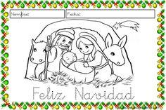 Fichas para trabajar la lectoescritura en Navidad