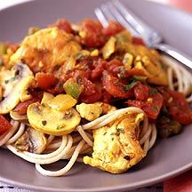 <3 SPICED CHICKEN CACCIATORE ~ This is also very good with tortellini.  Works great in the crockpot too!
