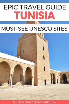 Planning a trip to Tunisia? Discover the most beautiful UNESCO sites you should visit during your trip to Tunisia and North Africa. Visit thousands of years old Roman and Punic ruins, walk through ancient fortresses from the Arab conquest era and learn more about Tunisia's rich past. #travel #Tunisia #NorthAfrica #culture UNESCO Sites in Tunisia Complete Travel Guide   Tunisia travel guide and best destinations   International travel   Places to visit in North Africa   Things to do in Afri Cool Places To Visit, Places To Travel, Archaeological Site, Africa Travel, North Africa, Amazing Destinations, World Heritage Sites, Travel Inspiration