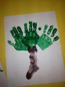 handprint family tree (use for apple tree)