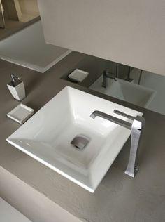 www.gessi.it colección MIMI lavabo sobre encimera.