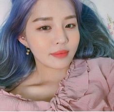 I love colorful hair. Asian Hair Care, Asian Style, Pretty Hairstyles, Pretty Face, Pretty People, Girl Photos, Ulzzang, Asian Girl, Hair Styles
