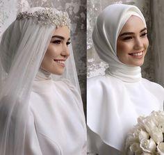 Muslim Wedding Gown, Hijabi Wedding, Wedding Hijab Styles, Muslimah Wedding Dress, Hijab Wedding Dresses, Muslim Wedding Dresses, Wedding Dress Sleeves, Dream Wedding Dresses, Bridal Dresses