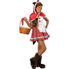 Teen Little Red Riding Hood Costume - Teen Halloween Costumes Hollween Costumes, Tween Halloween Costumes, Cute Halloween, Costume Ideas, Halloween Ideas, Awesome Costumes, Halloween 2015, Halloween Stuff, Halloween Makeup