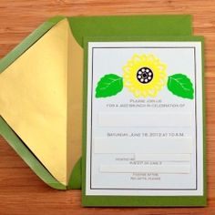 DIY Sunflower Invitations - Quick and cheery party invitations.