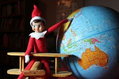 Elf on the Shelf shows that he knows Santa's proposed route this year.