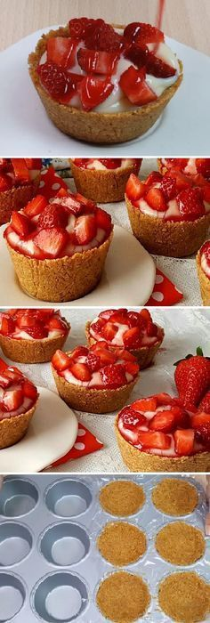 Snacks Faciles Paso A Paso 51 Ideas Mini Desserts, Delicious Desserts, Dessert Recipes, Yummy Food, Mini Cakes, Cupcake Cakes, Cakes And More, Sweet Recipes, Bakery