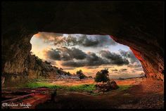 Eftaih Cave, Eastern Libya.    One of the oldest caves on earth and  the largest on Northern Africa.