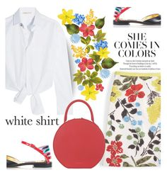 """""""she comes in colors"""" by shoalehnia ❤ liked on Polyvore featuring Maje, Boden, Kim Kwang and Mansur Gavriel"""