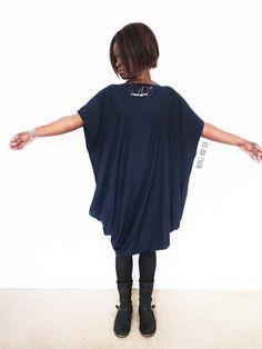 Navy drape dress_Japanese sewing__Nosh organic fabric_Needle and Ted