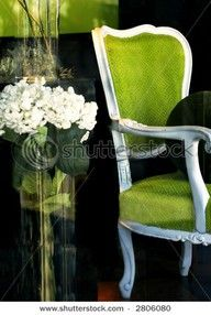 lime green / upholstery for settee