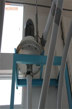 After entering into the impact flour detacher through the feed inlet in the central maincase, grain flour moves to the outer edge by the centrifugal force of rotor rotating, and the air and wind force of rotor blades rotating; in the movement, grain flour is successively and repeatly impacted by rotor pin, stator pin and the inner wall of the main case, then the finished flour is discharged from discharging hole.