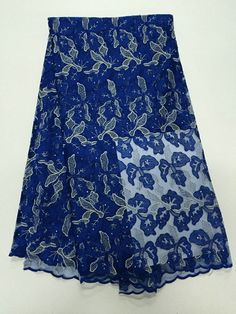 African Net Lace Floral Embroidered Nigerian French Lace XD113-4 https://www.lacekingdom.com/