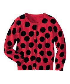 Take a look at this Red Polka Dot Serious Fun Cardigan - Infant, Toddler & Girls by Hanna Andersson on #zulily today!