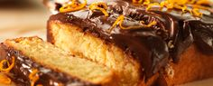 Chocolate & Orange Loaf Cake  This is one of my favourites so easy to make and I use double cream for the ganache!!! :)