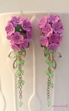 Flower EarringsWedding EarringsLight Lavender by insoujewelry