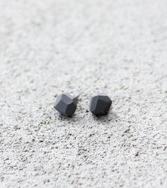 grey geo earrings | AMM Jewelry