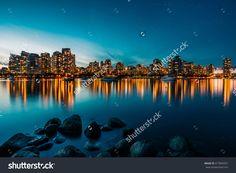 Vancouver Skyline Reflection At Sunset Стоковые фотографии 417849331 : Shutterstock