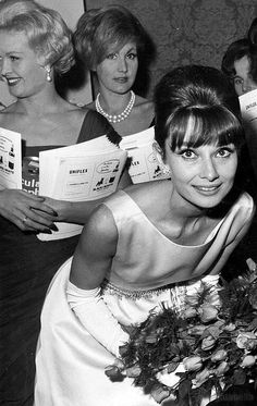 "Audrey Hepburn During the premier of ""Breakfast at Tiffany's"" 1961"