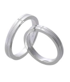 #LoveMarkPH Dot and Cross Silver Couple Ring: Made with 92.5% silver [Item code: lr0009]