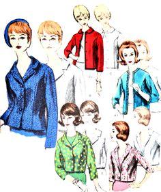 Dressing Vintage - Vogue 3007 vintage jacket pattern from the 1950s UNCUT, $35.00 (http://dressingvintage.com/vogue-3007-vintage-jacket-pattern-from-the-1950s-uncut/)