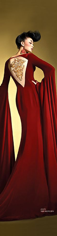 ~ Living a Beautiful Life ~ Ne-Tiger Couture Spring Summer 2014 ♔ THD ♔ Red Fashion, Fashion Art, Haute Couture Fashion, Tiger, The Dress, Dream Dress, Lady In Red, Evening Gowns, Summer 2014