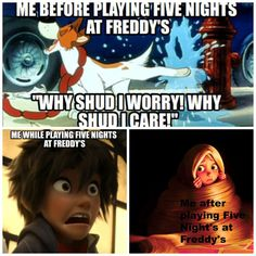 Playing Five Nights at Freddy's